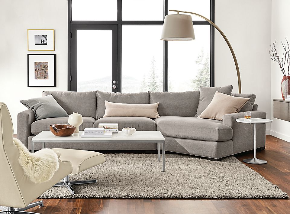 Mayer Sofa with Angled Chaise Living Room - Room & Board