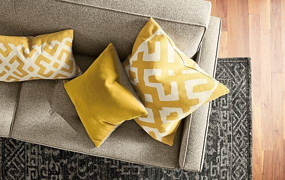 Maze Pillows in Saffron