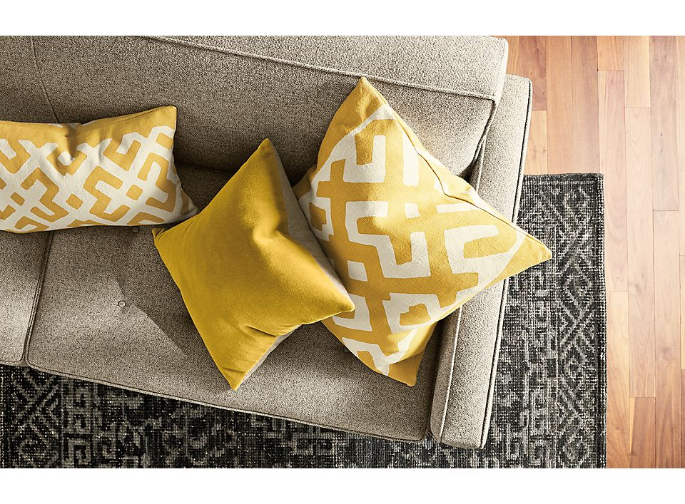 Detail of Maze pillow