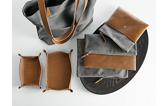 Leather & Waxed Canvas Totes and Carriers
