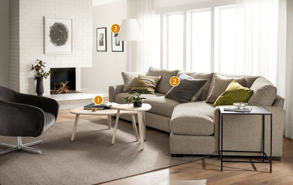 Metro Sofa With Right Arm Angled Chaise