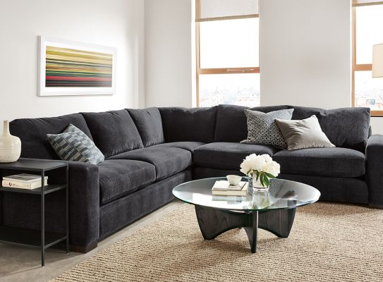 Metro Custom Sectional In Vashon Charcoal