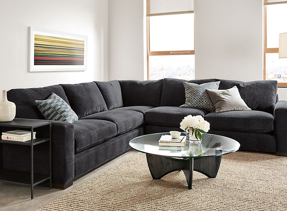 Detail of Metro three-piece sectional
