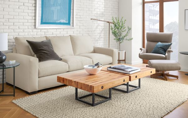 Attractive Metro Sofa With Briggs Coffee Table