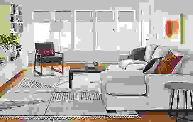 Living room with Metro sofa in desmond artic