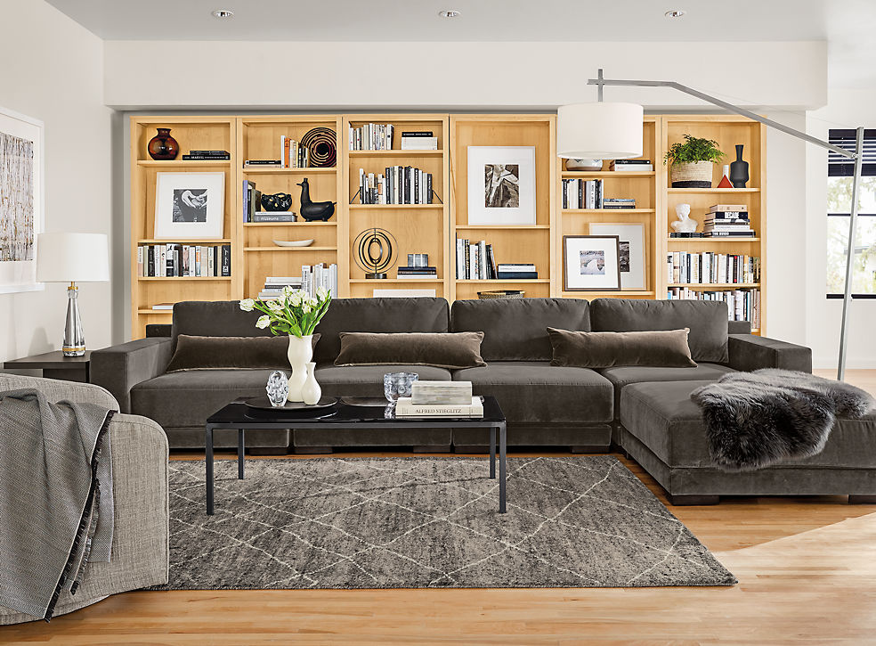 modern living room furniture - living - room & board