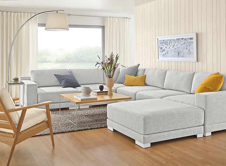 Detail of Mira seven-piece sectional