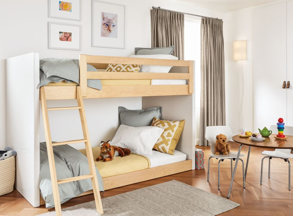 Detail of Moda mini twin over twin bunk bed