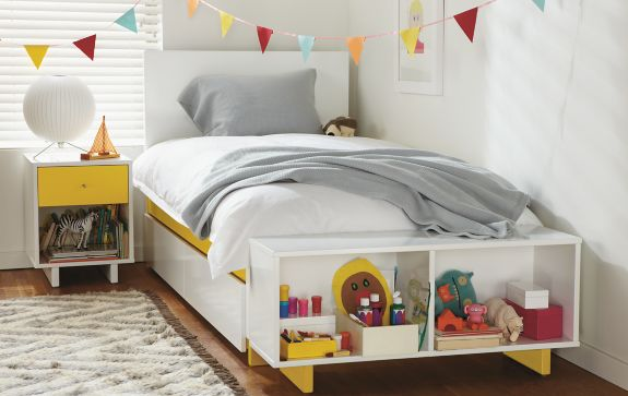 Bedroom Boards Collection moda collection bedroom in yellow - modern kids furniture - room