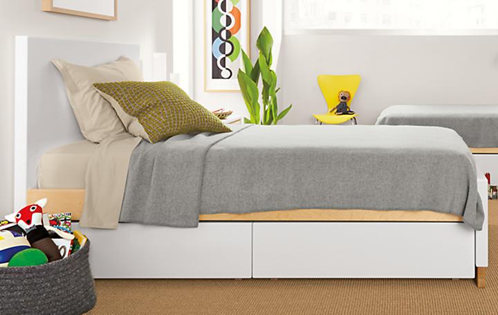 Detail of Moda under-bed storage drawers