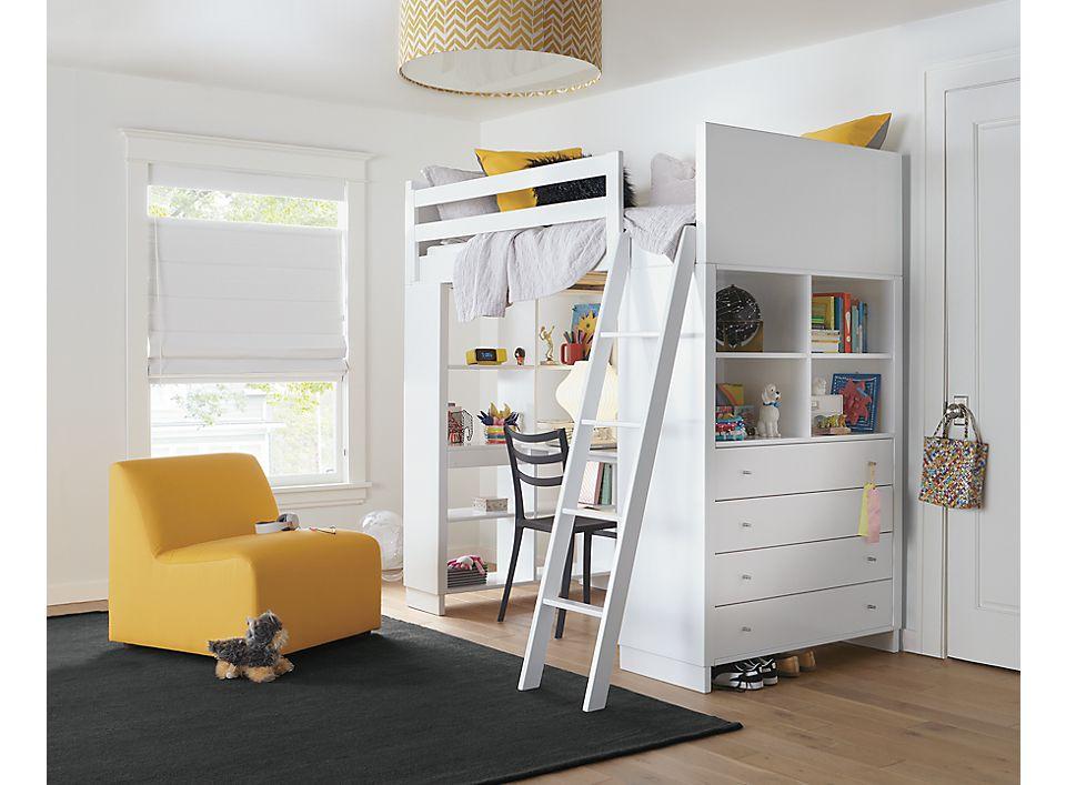 Moda Loft Bed With Desk Dresser