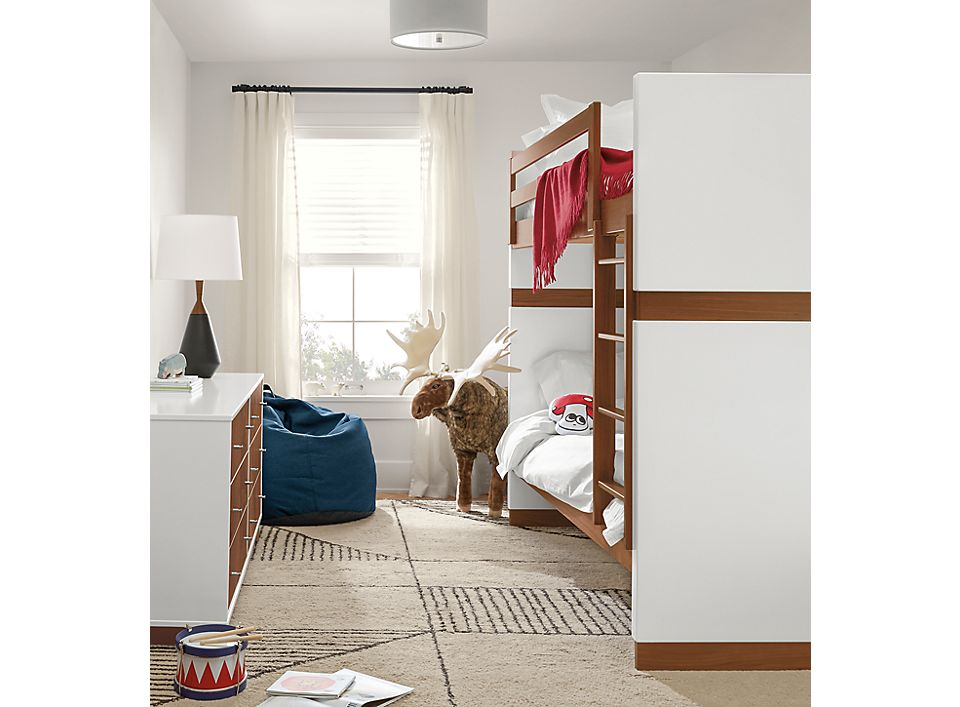 Detail of Moda twin over twin bunk bed