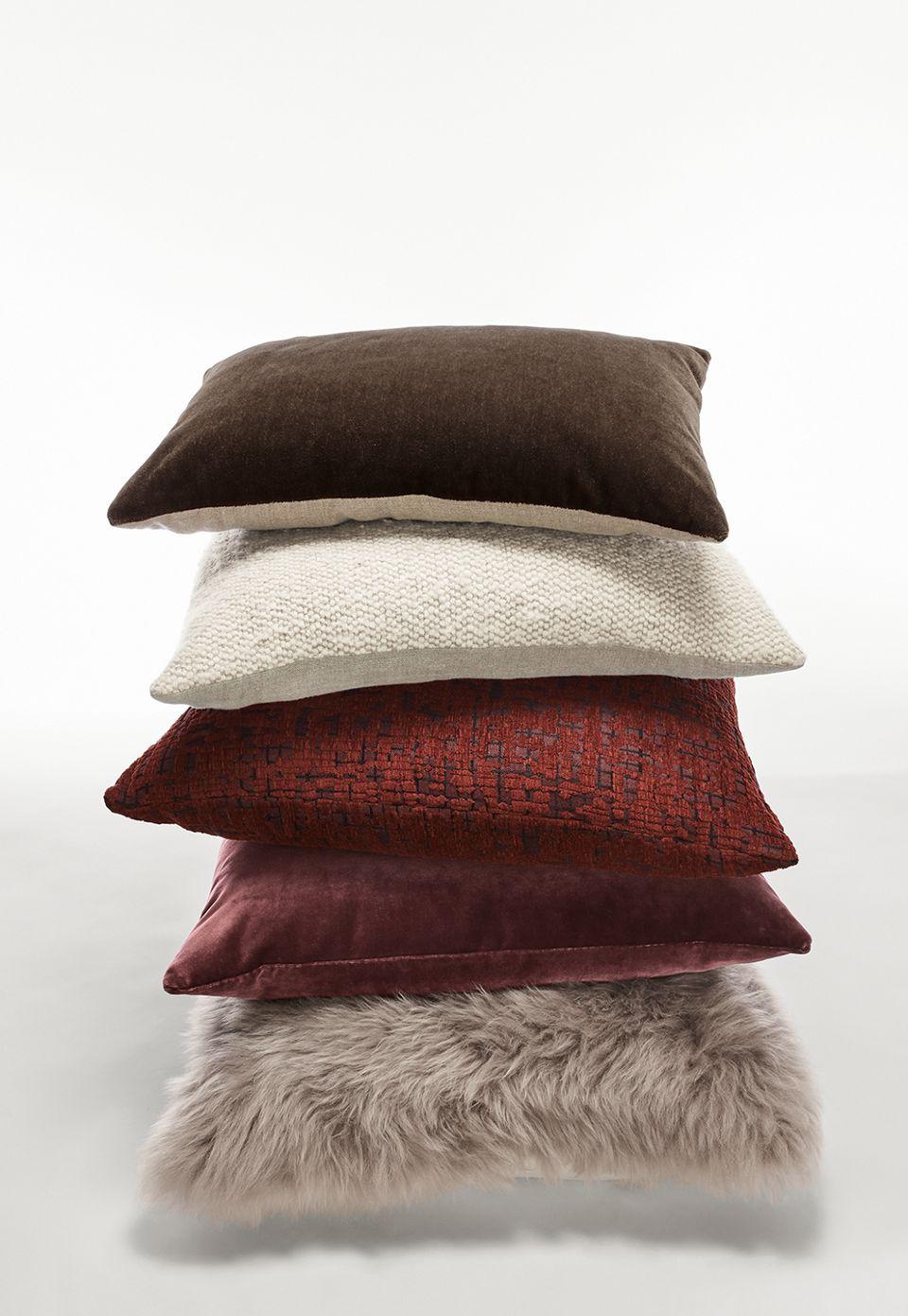 Detail of Mohair throw pillow