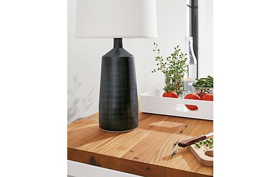 Monarch Table Lamp in Coal
