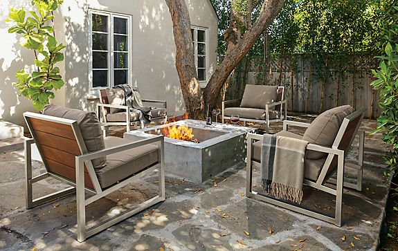 Montego Lounge Chairs in Stainless Steel