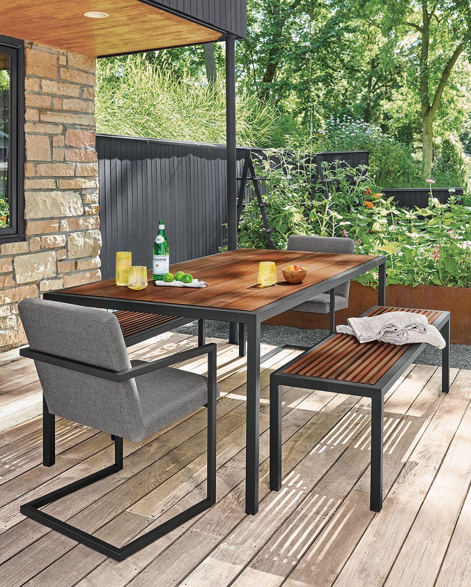 Montego modern outdoor dining set
