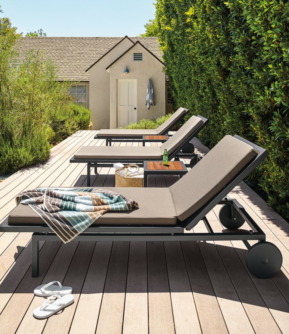 Montego outdoor chaise with cushions