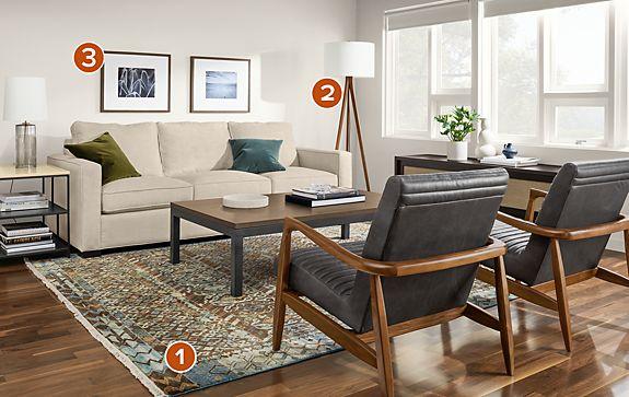 Timuri Jade Rug Living Room