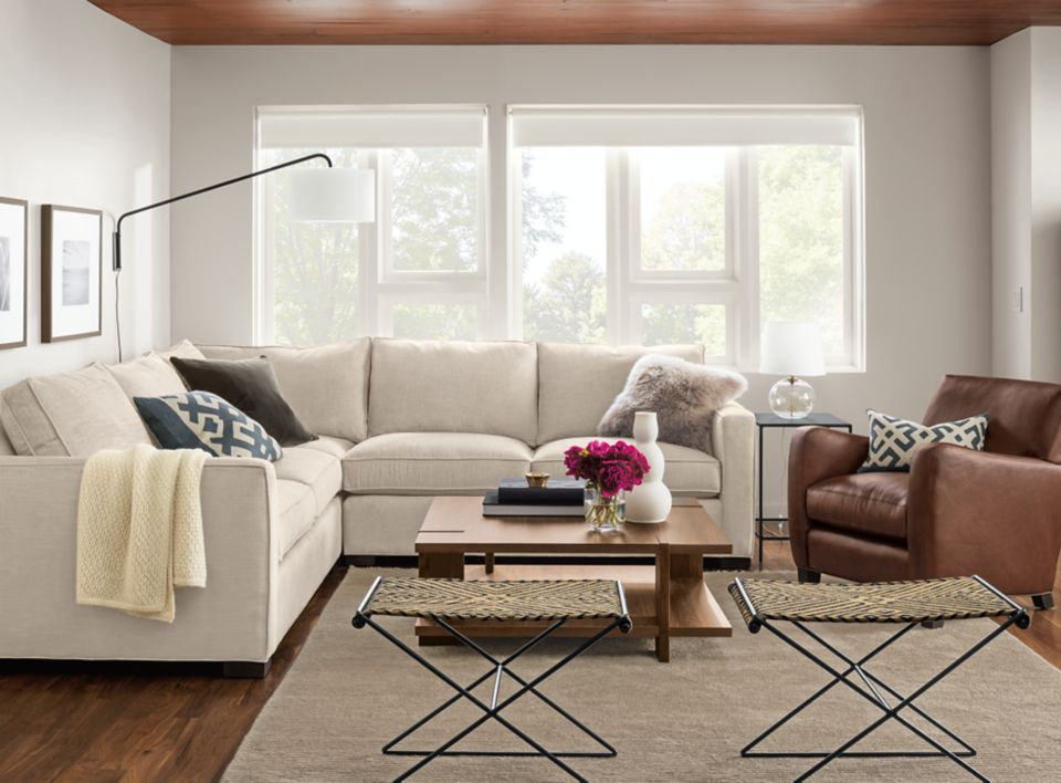 Detail of Morriosn three-piece sectional