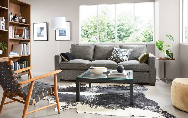 Morrison Sofa In Tepic Charcoal Fabric