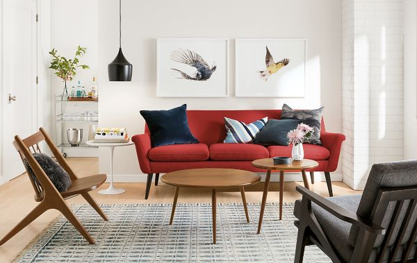 Murphy Sofa With Soren Lounge Chair