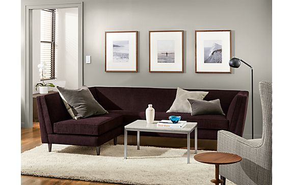 Naomi Sectional in Total Aubergine Living Room