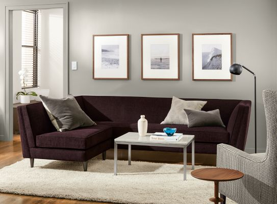 Incroyable Naomi Sectional In Total Aubergine Living Room
