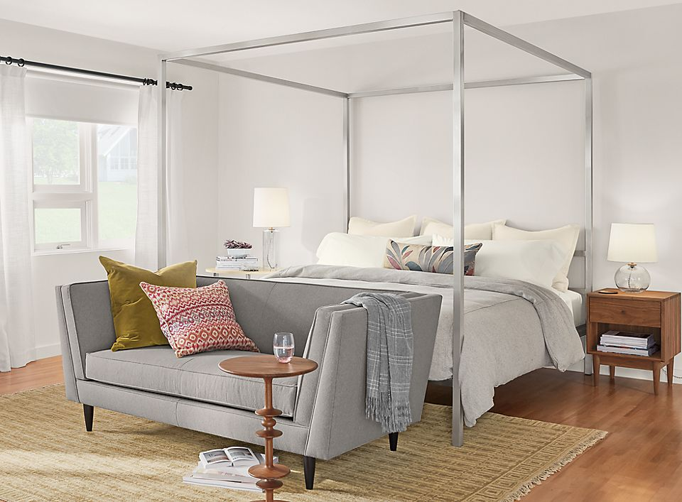 Portica Canopy Bed And Naomi Sofa Room Amp Board