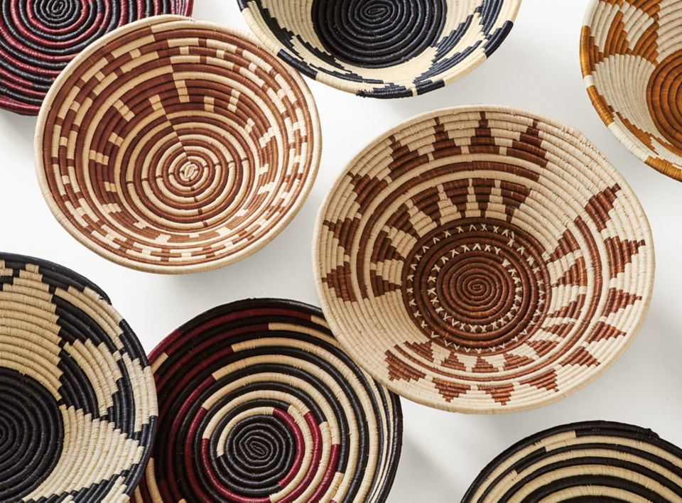 Top down view of Olusania baskets