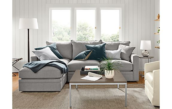Orson Left-Arm Chaise and Ford Swivel Chair