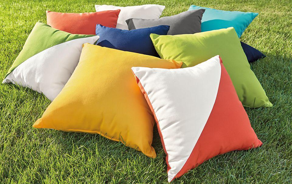 Detail of Maritime outdoor pillows