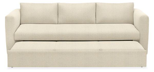 Oxford Pop Up Platform Sleeper Sofa   Modern Sleeper Sofas   Modern Living  Room Furniture   Room U0026 Board