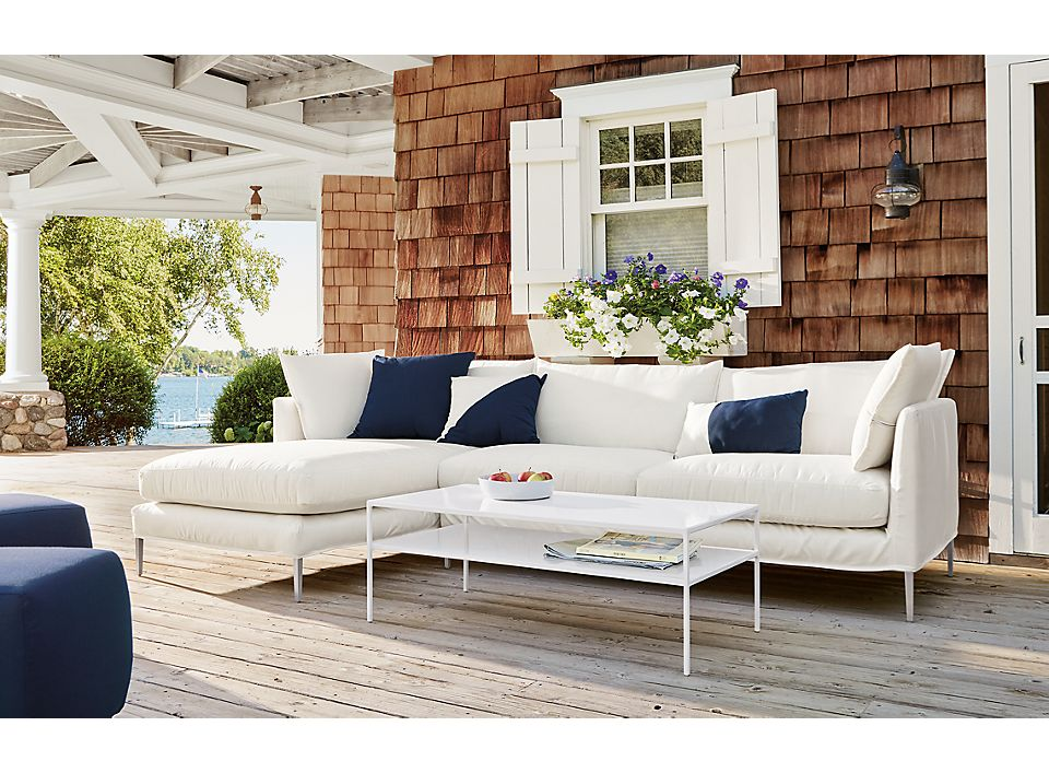Detail of 115-inch Palm outdoor sofa