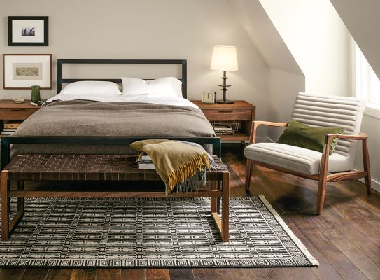 Perfect Parsons Bed With Callan Chair Bedroom