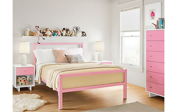 Parsons Bed in Blossom with Moda Dresser - Modern Kids Furniture ...