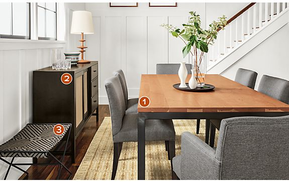 Parsons Dining Table with Marie Chairs