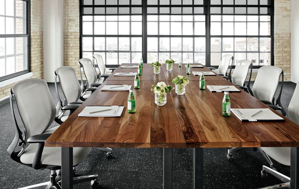 Detail of Parsons conference tables