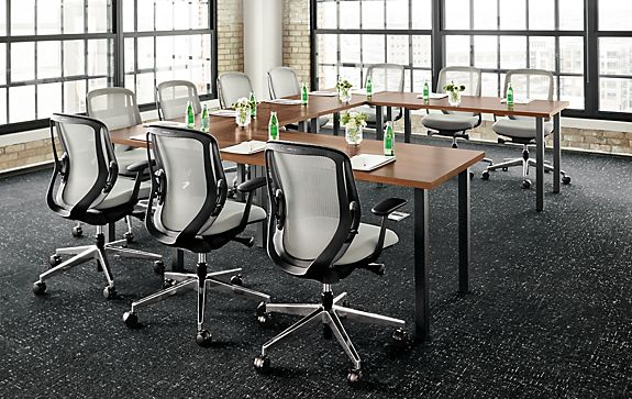 Meeting Room: Parsons Leg Tables & Sylphy Chairs