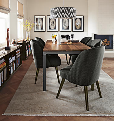 Parsons Dining Table with Cora Chairs - Modern Dining Room & Kitchen ...