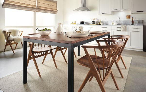 Parsons Dining Table With Soren Dining Chairs