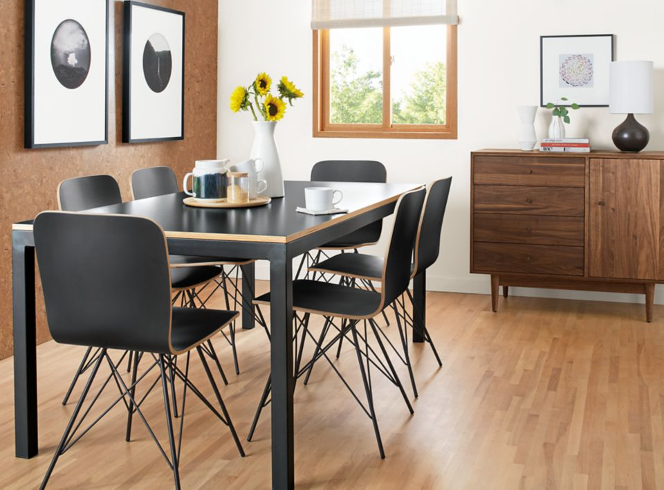 Modern Parsons 72w dining table