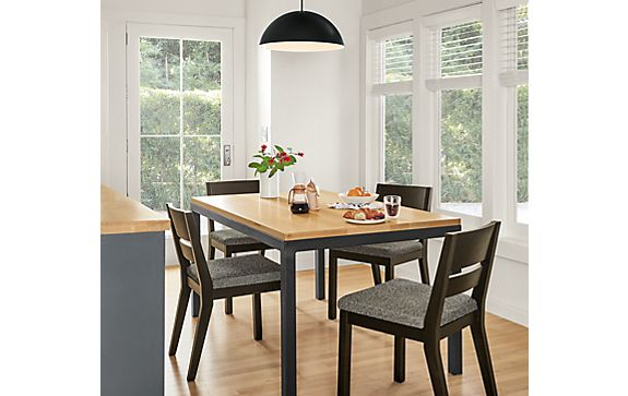 Parsons Dining Table with Afton Side Chairs