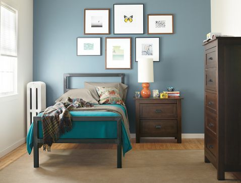 Bedroom Boards Collection parsons bedroom with the bennett collection - modern kids