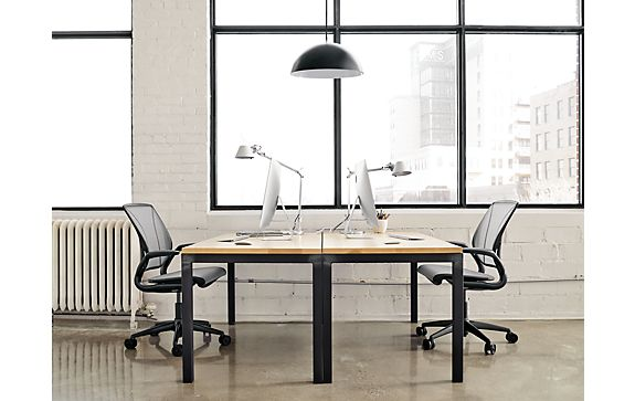Parsons Desk Shared Office Space