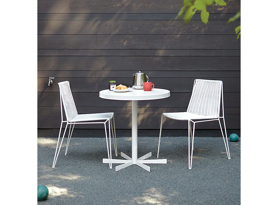 Detail of Penelope table low white