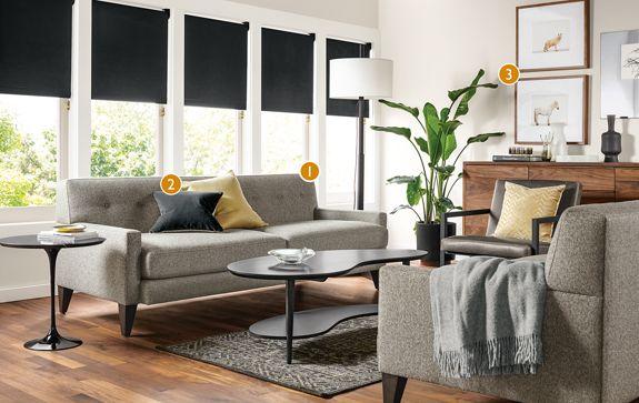 custom percy sofa living room - modern custom furniture - room & board