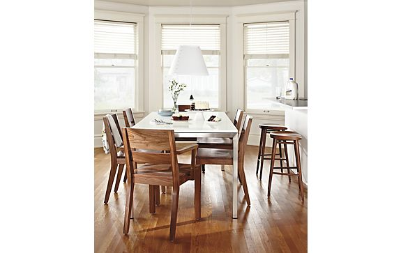 Portica Table with Afton Walnut Chairs