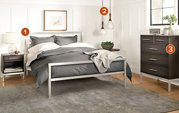 Portica Bed with Alden Collection in Charcoal