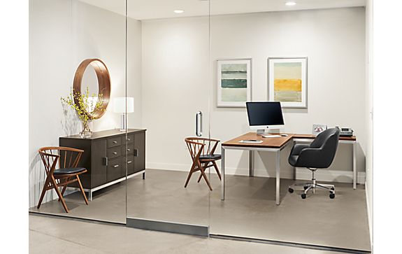 Portica Desk with Nico Chair in Office Space