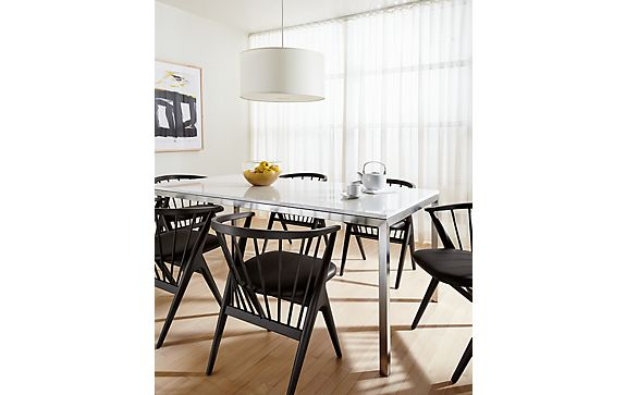 Portica Table with Soren Chairs in Ebony